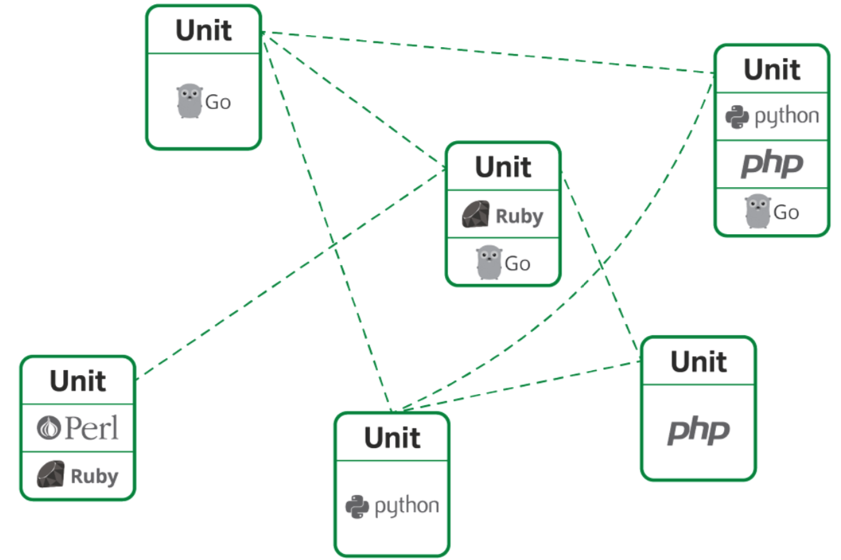 Nginx Unit can run different languages and language versions in one server